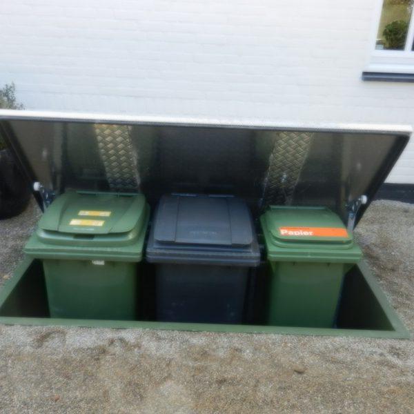 Ondergronds Opbergsysteem voor drie containers
